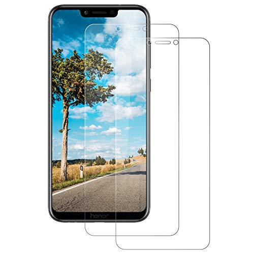 [2 Stück Panzerglas Schutzfolie für Huawei Honor Play, 9H Härte, Anti-Kratzer, Anti-Öl, Anti-Bläschen, Anti-Fingerprint Displayschutzfolie Panzerglasfolie