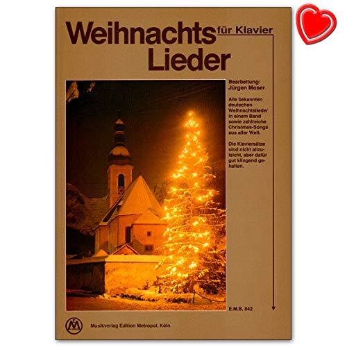 Canciones de Navidad para piano–Todos los Alemana conocidos Canciones de Navidad y muchas Christmas de canciones de todo el mundo–Ordenador libro con–Partituras emb849795016384206