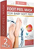 Peach Foot Peel Mask For Cracked Heels, Dead Skin & Calluses - Make Your Feet Baby Soft - Removes & Repairs Rough Heels, Dry Toe Skin-Exfoliating Peeling Natural Treatment (Size: 2 Pack)