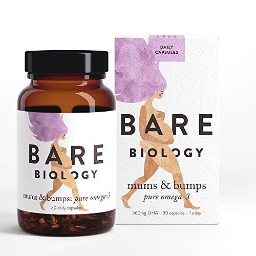 Bare Biology Mums & Bumps Pure Omega 3 Fish Oil Capsules (previously Bump & Glory) for Pregnant Women - All Round Support for Preconception, Pregnancy & Breastfeeding - Made From Sustainably Sourced Wild Fish (30 Capsules)