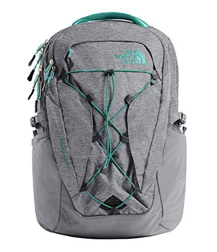 The North Face Women's Borealis Backpack, Zinc Grey Light Heather/Kokomo Green