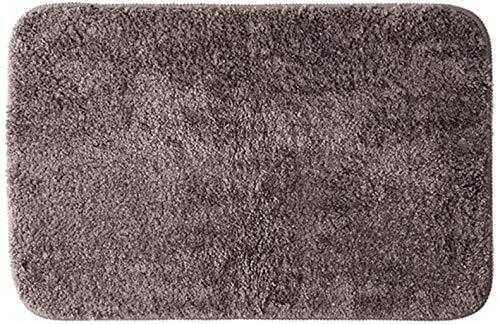 86XH Bathroom mat Curtain Bathroom mat, floor mat, quick-drying, absorbent, antibacterial, microfiber, non-slip, washable, bathroom entrance mat (Color : Brown, Size : 40cm*60cm) PinBaiYa