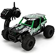 STOTOY Remote Control Car,High Speed Off Road Monster RC Truck - 1/16 Scale 4WD 2.4Ghz Radio Controlled Electric Truggy - Best Gift for Kids and Adults