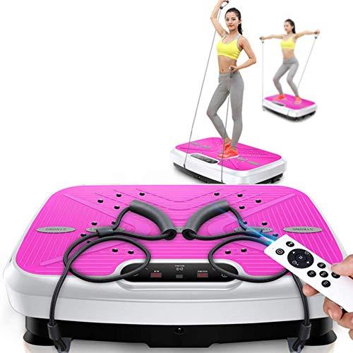 LEILEI Vibrationsplatte Power Board Vibration Trainer Fitness Vibrationsmaschine Oszillierende Plattform Ganzkörperschütteln (Widerstandsband)