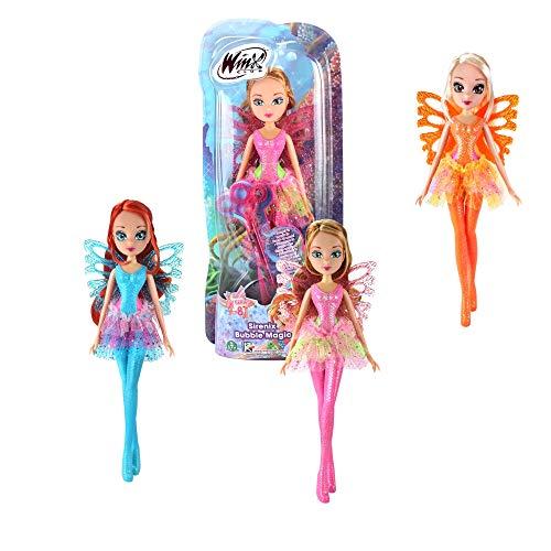 Giochi Preziosi Wing Winx Sirenix Bubbles Wings Flora con Ali e Scettro Effetto Bolle Personaggio, Multicolore, WNX53200