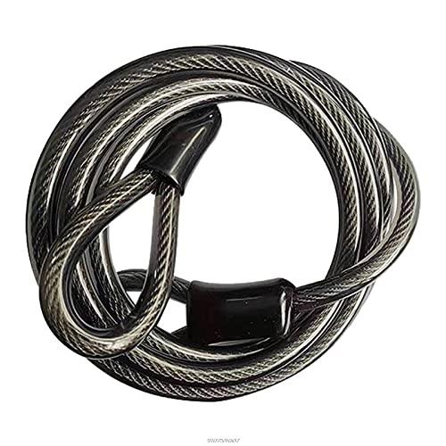 Cable de bloqueo de bicicleta de 1,8 m, Cable de seguridad antirrobo para bicicleta de carretera, Cable de cuerda de alambre de acero para motocicleta, Scooter Eléctrico