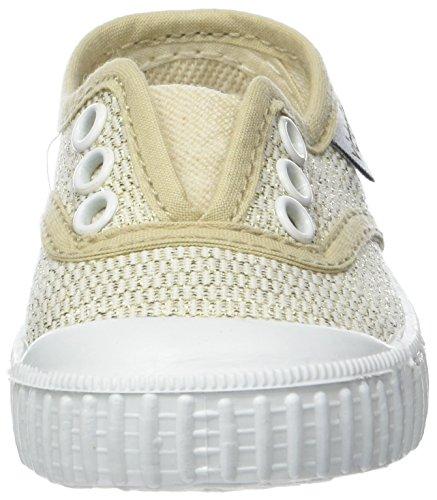 Victoria Inglesa Elástico Lurex, Zapatillas Unisex niños, Dorado (Oro), 19 EU