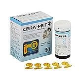 50 x Tiras Reactivas de Prueba para el Medidor de Glucosa en Sangre Veterinario Cerapet, especialmente calibrado para su uso en perros y gatos