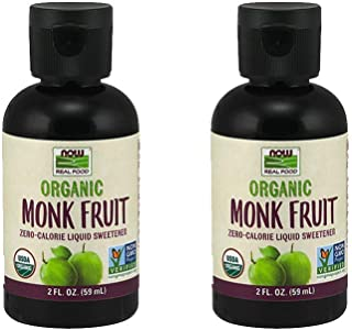 NOW Foods Monk Fruit Liquid Organic, 2 Fluid Ounce (2 Pack)