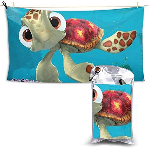 Toalla de Playa de Microfibra Finding Nemo Sea Turtles Toalla de Viaje para Acampar, Nadar, Hacer mochileros, Yoga, Gimnasio, Deportes 160X80 CM