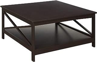 Convenience Concepts Oxford Square Coffee Table, 36-Inch, Espresso