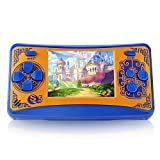 QoolPart Handheld Game Console for Children, Retro Arcade Video Gaming System with 220 Classic Games, QS5 Portable Game Player with 2.5 inch TFT Display Perfect Electronic Game for Traveling (Orange)