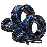 Bassdash Casting Spinning caña de pescar mangas de protección para caña de pescar calcetines para caña de pescar hasta 7-1/2 pies