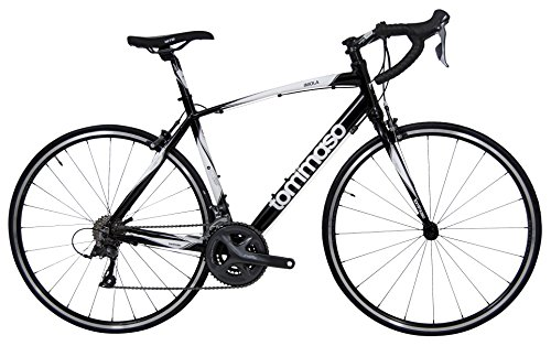 Tommaso Imola Endurance Aluminum Road Bike, Shimano Claris R2000, 24 Speeds - Black - Large