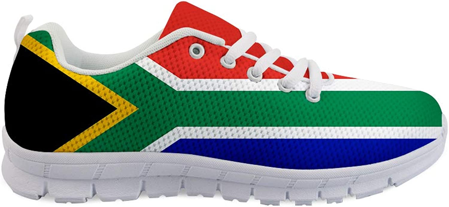 Owaheson Lace-up Sneaker Training shoes Mens Womens South Africa Flag