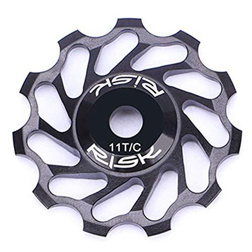Stylrtop 2 pcs Bike 11T Aluminum Sealed Bearing Jockey Wheel Rear Derailleur Red