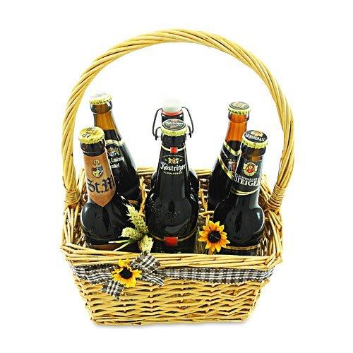 Sechser Bierkorb 'Dunkles Bier'