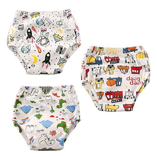 Aolawu Aolawu Baby Traininghose Waschbar Trainerhosen Baumwolle Windelhose Toilettentraining Unterhose Set Wiederverwendbar Lernwindel-80