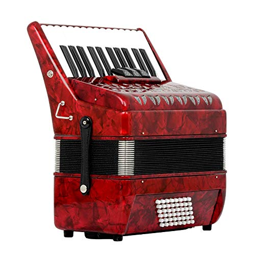M-zutx 26 teclas 48 Bajo rojo Tres hileras Acordeones for tocar en la primavera...