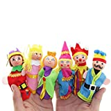 Jinjin 6PCS Stuffed Animals Toys Finger Toys Hand Puppets Christmas Gift Children's Educational Toys Games Activities Amusements (Random)