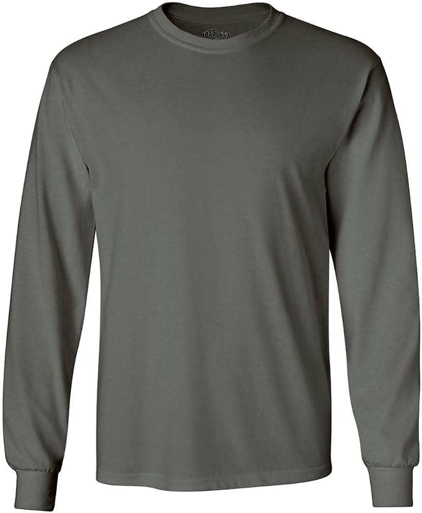 Joe's Under blast sales USA Men's Long Sleeve Max 61% OFF Heavy in Neck Crew Cotton 2 T-Shirts