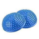 Cojín de Equilibrio estabilizador, cojín de Equilibrio con bombín para Entrenamiento del/Balance rehabilitación/Gimnasio/Yoga (Azul)