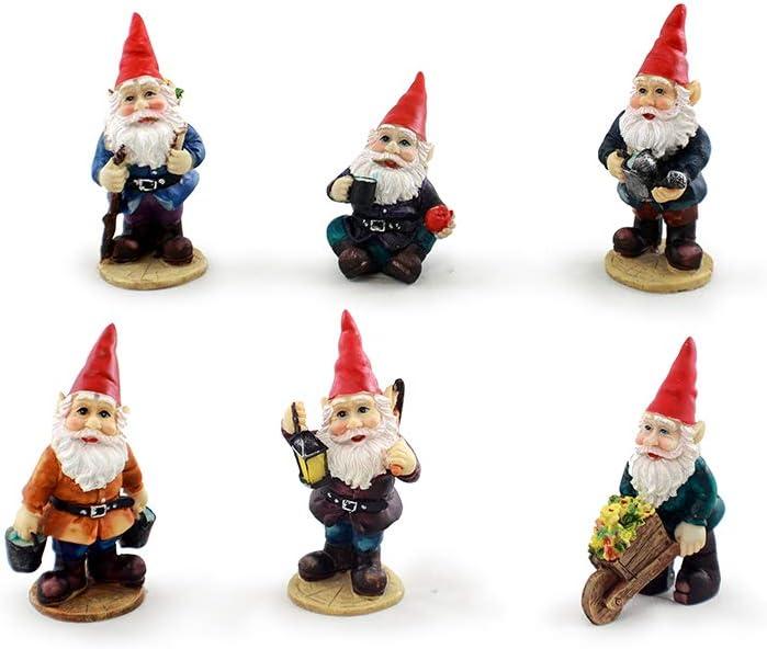 Mini Miami Mall Ranking TOP18 Gnomes Garden Fairy 6 Set of