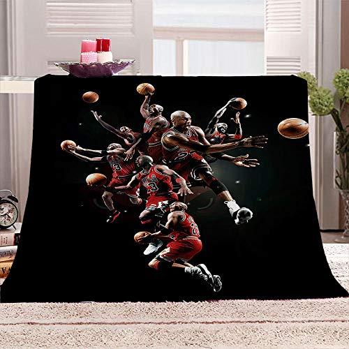 ZFSZSD Plüsch Decke Basketball Felldecke Wohndecke Fleecedecke Sofadecke Tages Klimaanlage Decke Leicht für Couch Bett 130x150cm
