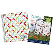 """The Quilter's Planner 2019 Monthly and Weekly Planner Journal, 8"""" x 10"""", with Collector's Magazine: Filled with Tools for Every Quilter, Laminated Cover and Tabs (Orange Peel)"""