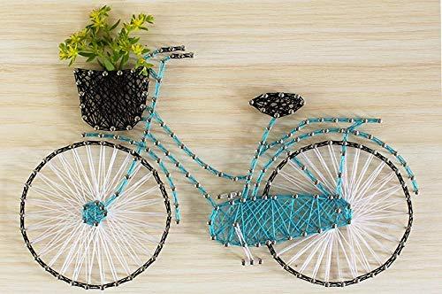 Handleiding DIY string zijde decoratieve schilderij fiets garen schilderij nagel kronkelende lijn tekening 25 * 25cm