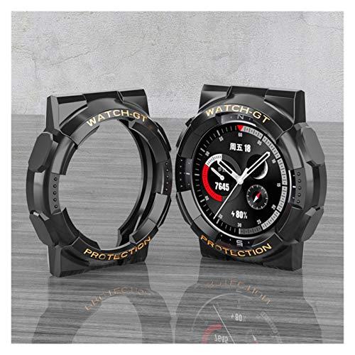 BAAIFC Funda de TPU para HUAWEI Watch GT 2 de 46 mm, protector de pantalla para HUAWEI Watch GT 2e accesorios de correa de repuesto (color de la correa: blanco plateado, tamaño: para WARCH GT 2 46 mm)