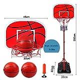 LQH Tragbare Junior Basketballkorb mit Ball-Amp;Pumpe Spielen Sport Set Kids Basketball Einstellbare 70-200Cm Freistehende Indoor Outdoor Garden Beach-Party-Spaß-Standplatz