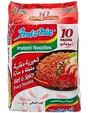 Indomie Noodles Mi Goreng Hot & Spicy Fried Noodles, 10 x 80 g (Pack of 1)