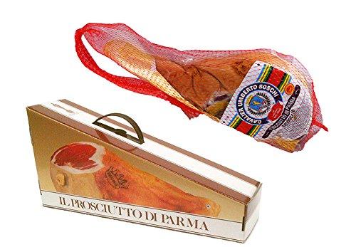 Jamon de Parma Dop. (Cav. U. Boschi.) Mitad, deshuesado, sazonado 16 meses, en vacío. peso 3,7 Kg....
