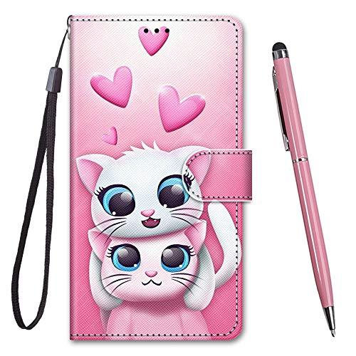 TOUCASA für iPhone 6S Hülle, Handyhülle für iPhone 6,Premium Brieftasche PU Leder Flip [Kreativ Gemalt] Case Handytasche Klapphülle für Apple iPhone 6S / iPhone 6 (4,7 Zoll),2 Schöne Katzen