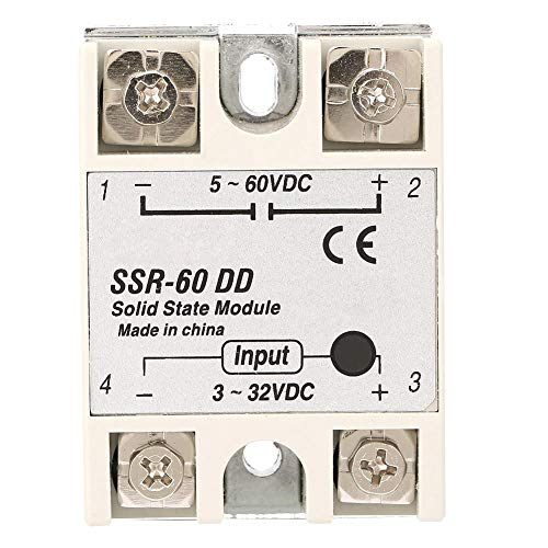 Relé de estado sólido de control para máquinas DC-DC SSR-60DD 60A 3-32VDC a 5-110VDC Relé de estado sólido módulo