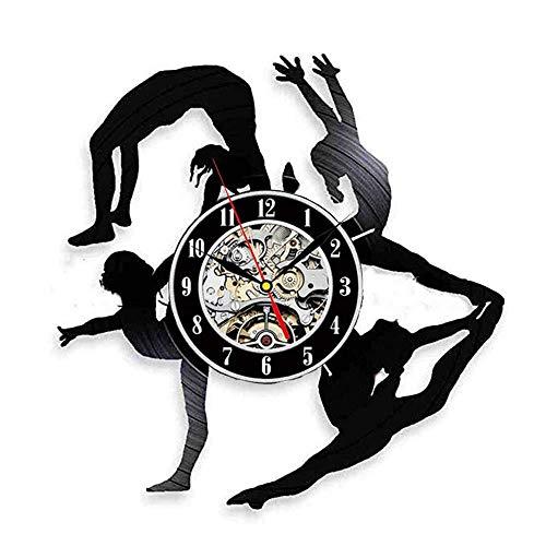 Pole Dancer Regalo Reloj De Pared De Vinilo Reloj De Pared para La Sala De Arte De Baile Fiesta Pegatina Muestra Strip Dance Accesorios para El Hogar Decoración para El Hogar con Led