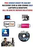 Hiren s Boot Combo 2 DVD + 1 USB PE x64 bit 2021 Software Free Live Tech Support & Diagnostic User Manual Video DVD. Latest Version Best PC Computer Repair Recovery Tools Suite Compatible with Windows