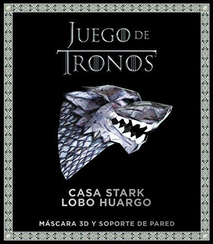 Juego de Tronos : Casa Stark : lobo huargo: Máscara 3D y soporte de pared (Series y Películas)