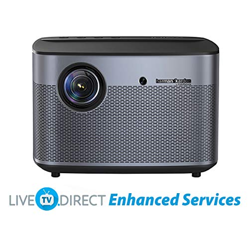 Home Cinema Projector, XGIMI H1S-Aurora Native 1080p HD Home Projector Android 3D Smart Video Movie Projector TV Built-in Harman/Kardon HiFi Stereo with LiveTV.Direct Enhanced Services Support