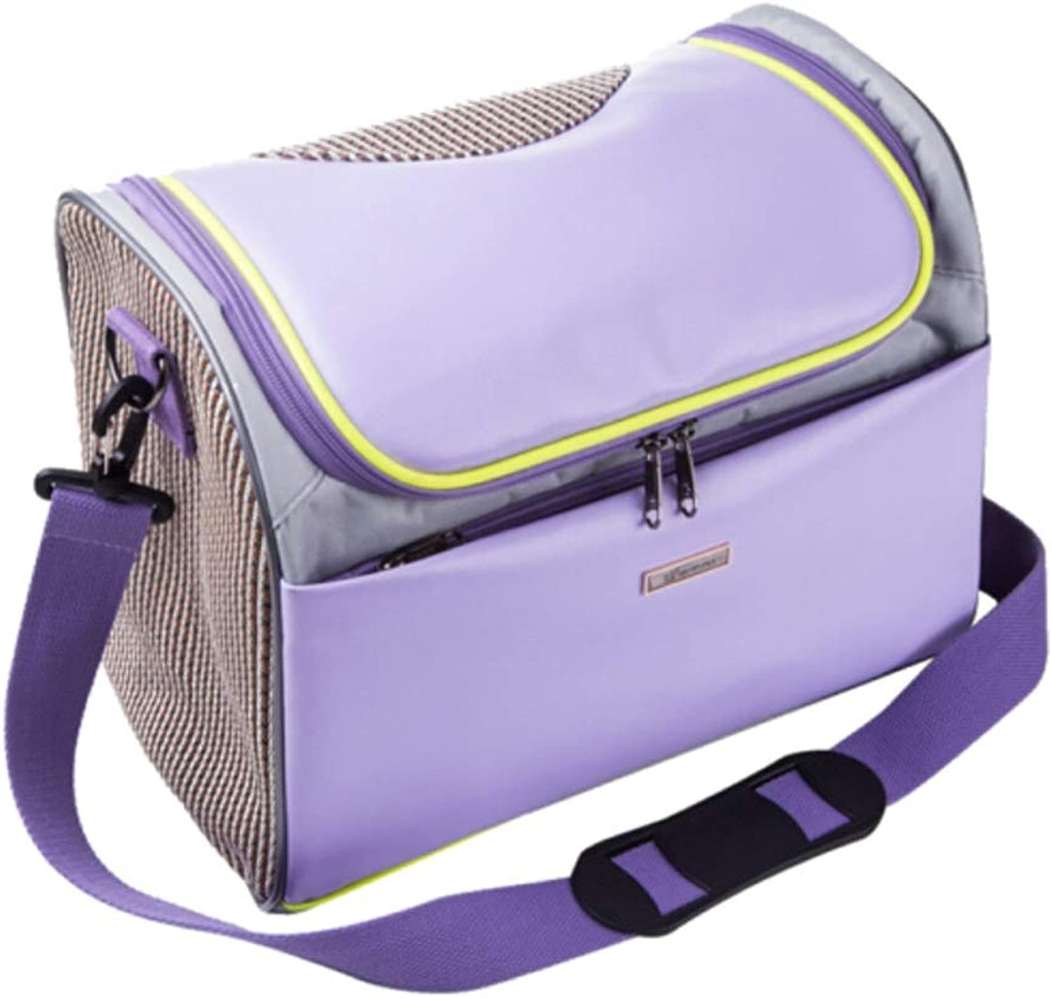 2019 Summer Style Pet Travel Carrier Soft Sided Portable Bag for Medium Puppy and Cats,Portable with Adjustable Backpack Belt Suitable for Outdoor Travel Walking Hiking (color   Purple)