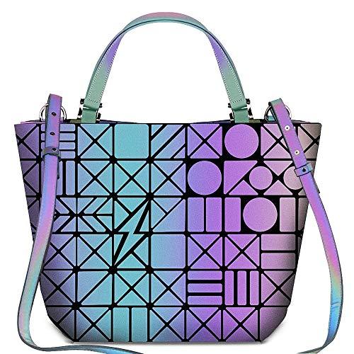 Geometric Grid Holographic Handbags, Colour Changing