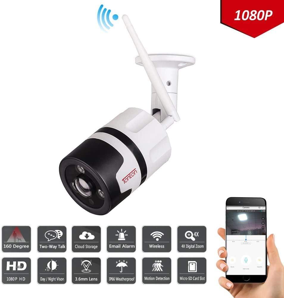 Tonton de 2 cam/éras de Surveillance 1080P WiFi Ext/érieur Cam/éra IP WiFi Ext/érieur WiFi 2MP HD Double Voies Audio Vision Nocturne D/étection de Mouvement PC Smartphone Tablette Acc/ès /à Distance cms