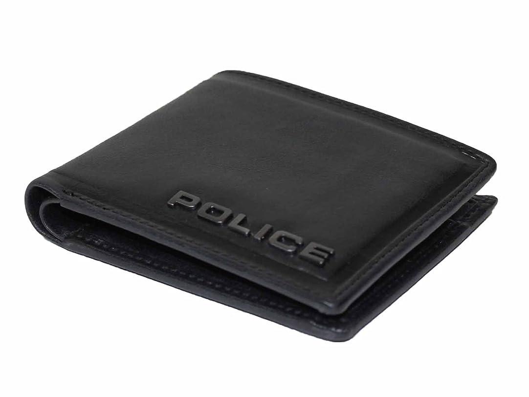 スリップ舌な囚人[ポリス] 折財布 ギフト EDGE 牛革 イタリアブランド メンズ財布