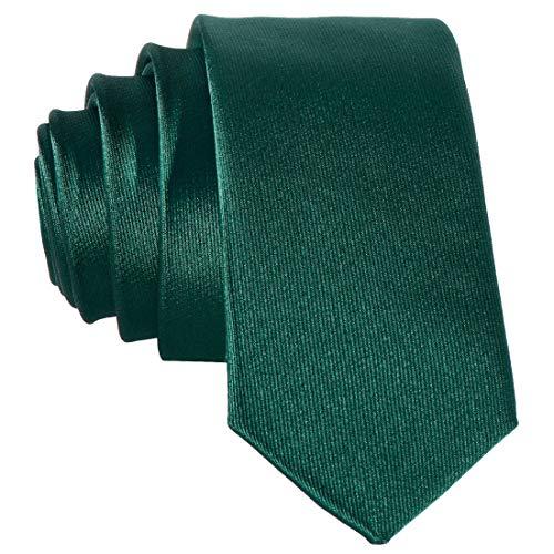 DonDon schmale grüne Krawatte 5 cm glänzend