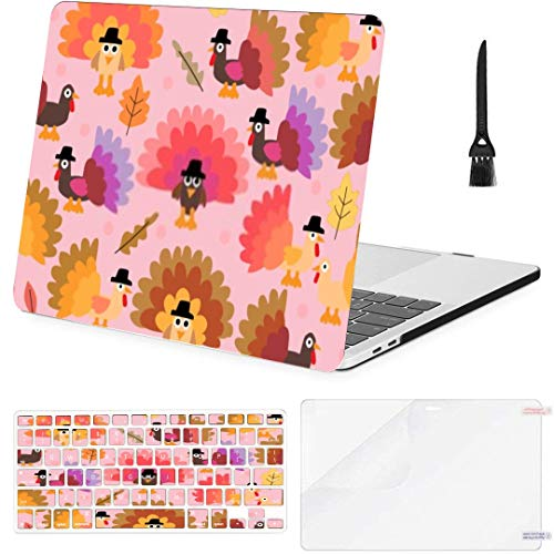 MacBook Pro 13 Inch Case Happy Thanksgiving Turkey Patternbackgroundwallpaper MacBook Air 13 Inch Case with Keyboard Cover Screen Protector Cleaning Brush