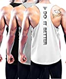 Holure Men's 3 Pack Gym Tank Tops Y-Back Muscle Tank...