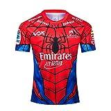 LCHENX-2019 Lions Hero Edition Rugby Fans Jersey Respirabilité T-Shirt À Manches Courtes À Séchage Rapide Haut Décontracté Spiderman Shirt,Rouge,XL