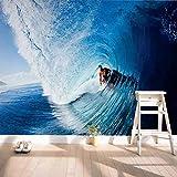 Papel tapiz fotográfico 3D Mural de decoración del hogar Sala de estar Dormitorio Surf Mural Papel tapiz Papel tapiz 3D-300x220cm