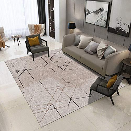 alfombras Cocina Alfombra Rectangular Gris Sala de Estar balcón Antideslizante y a Prueba de Humedad balcón alfombras recibidor 160X230CM 5ft 3' X7ft 6.6'